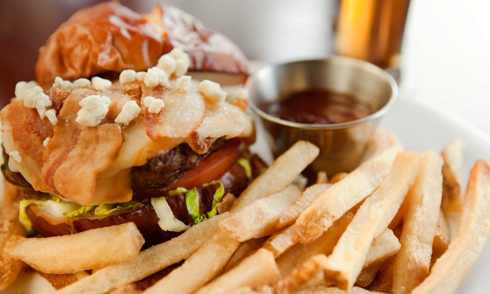 Early Stage Saloon - Stony Plain: Meal for Two or Four with Burgers, Sandwiches, and Beer at Early Stage Saloon (Up to 52% Off)
