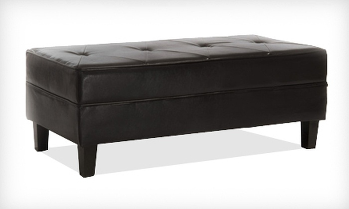 Lanark Espresso Leather Bench Ottoman: $109 for a Lanark Espresso Leather Bench Ottoman ($249.99 List Price). Free Shipping.