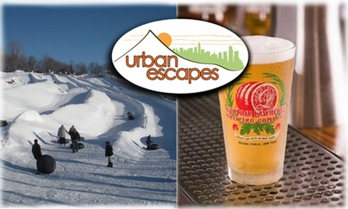 """Urban Escapes - New York City: $80 for One """"Snow Tubing & Beer Tasting"""" at Urban Escapes ($119 Value). Buy Here for 9:30 a.m. on February 6, 2010. See Below for Additional Dates."""