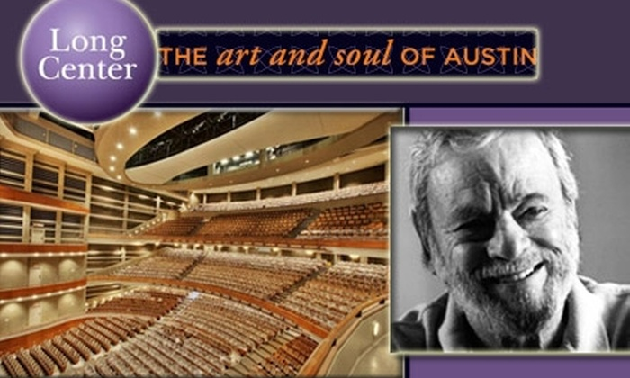 The Long Center  - Bouldin: $25 Tickets to Stephen Sondheim Event at The Long Center