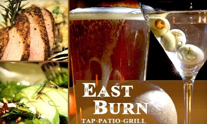the EastBurn - Buckman: $20 for $40 Worth of Savory Pub Fare, Craft Beers, and Flavorful Wines at the EastBurn