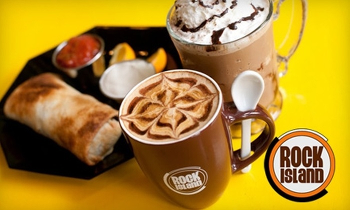 Rock Island Cafe - Neenah: $4 for $8 Worth of Coffee Drinks and Cafe Fare at Rock Island Cafe