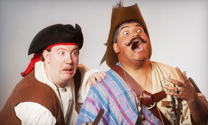 """Salty Dinner Theater - Multiple Locations: $15 for the Salty Dinner Theater's """"Pirates! Of Penzance?"""" in June for Two (Up to $30 Value)"""