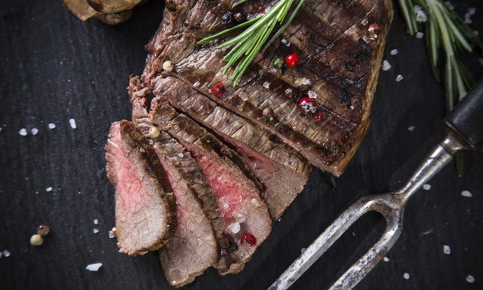 Standard Market - Multiple Locations: $72 for Six 40-Day-Aged, (15-16-Ounce) NY Strip Steaks and Steak Dust at Standard Market ($106.93 Value)