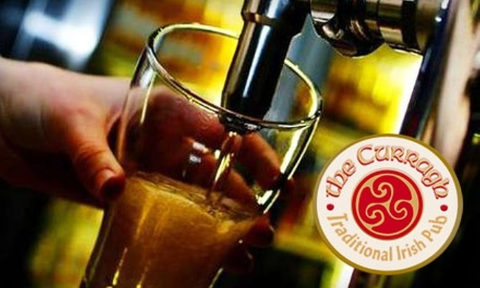The Curragh Irish Pub & Restaurant - Multiple Locations: $15 for $30 Worth of Hearty Fare and Drinks at The Curragh Irish Pub & Restaurant. Choose from Two Locations.