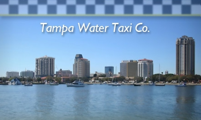 Tampa Water Taxi Company - Multiple Locations: $10 for a 45-Minute Harbor Tour with Tampa Water Taxi Co.