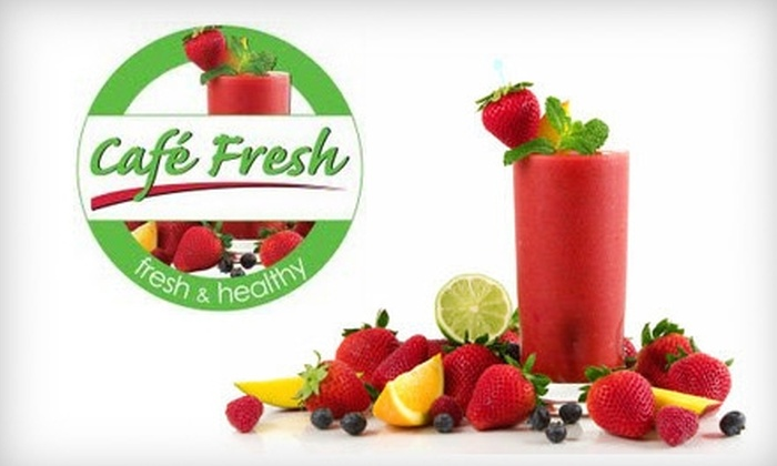 Cafe Fresh - Pikesville: $5 for $10 Worth of Smoothies, Salads, Wraps, and More at Café Fresh