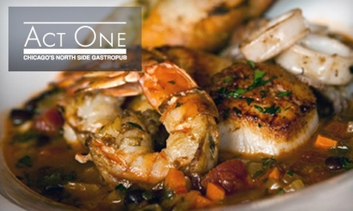 Act One Pub - Rogers Park: $25 for $50 Worth of American Cuisine and Drinks at Act One Pub