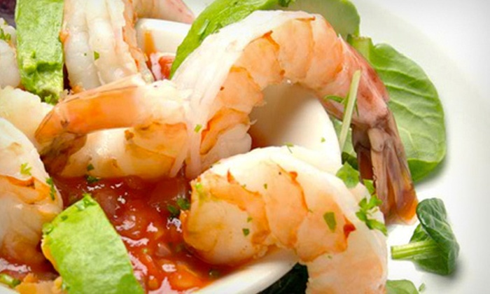 Sombrero Restaurant - Midtown: $45 for a Three-Course Dinner for Two with Bottle of Wine, Margaritas, or Sangria at Sombrero Restaurant (Up to $99.80 Value)