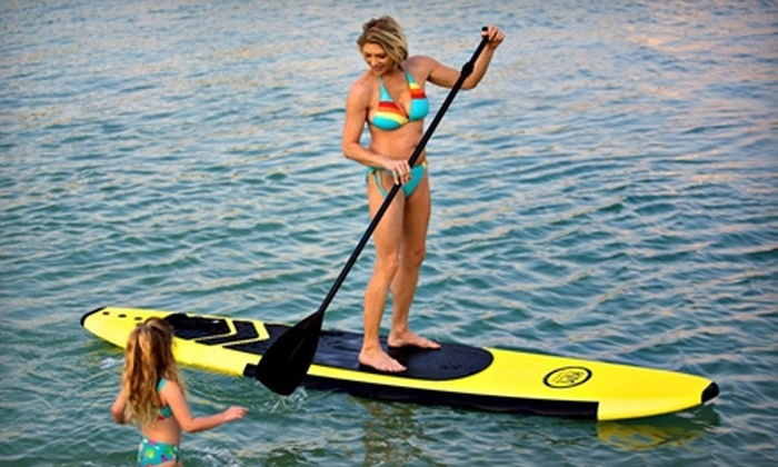 Island Action Sports - St. Pete Beach: $24 for a Paddleboarding Lesson and One Hour of Free Play from Island Action Sports ($55 Value)
