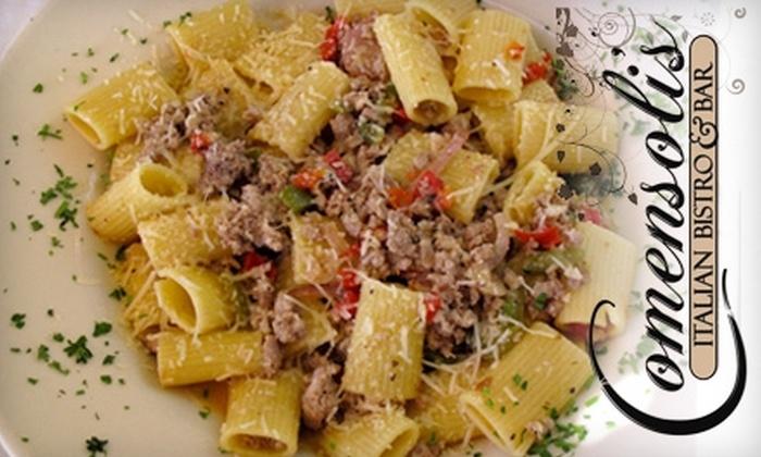 Comensoli's Italian Bistro & Bar - Central Business District: $10 for $20 Worth of Italian Fare at Comensoli's Italian Bistro & Bar