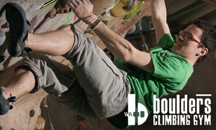 Boulders Climbing Gym - Hawthorne: $49 for One-Month Membership, On Belay Class, and Equipment Rental at Boulders Climbing Gym ($139.95 Value)