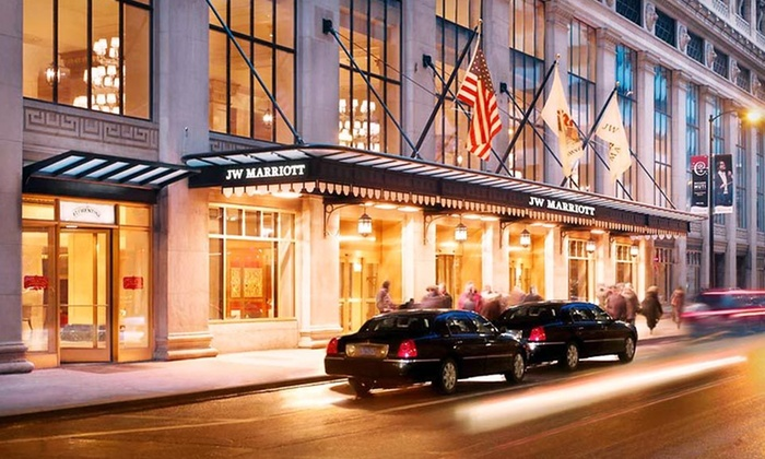 Valeo Spa in the JW Marriott - The Loop: $323 for One-Night Stay for Up to Four with Spa Treatments for Two at JW Marriott in Chicago