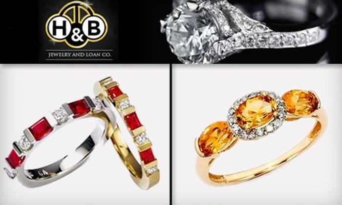 H&B Jewelry and Loan Co. - Downtown: $49 for $149 (or $199 if Redeemed in December) Worth of Jewelry at H&B Jewelry and Loan Co.