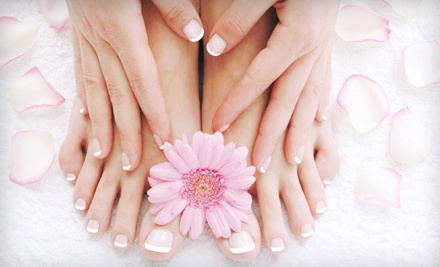 Manicure, Luxury Spa Pedicure, and 1 Bottle of Any Color Nail Polish - OMG Nails in Saint Paul