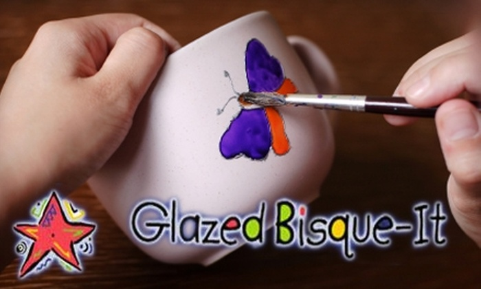 Glazed Bisque-It - Downtown: $12 for $25 of Paint-Your-Own Pottery and Studio Time at Glazed Bisque-It