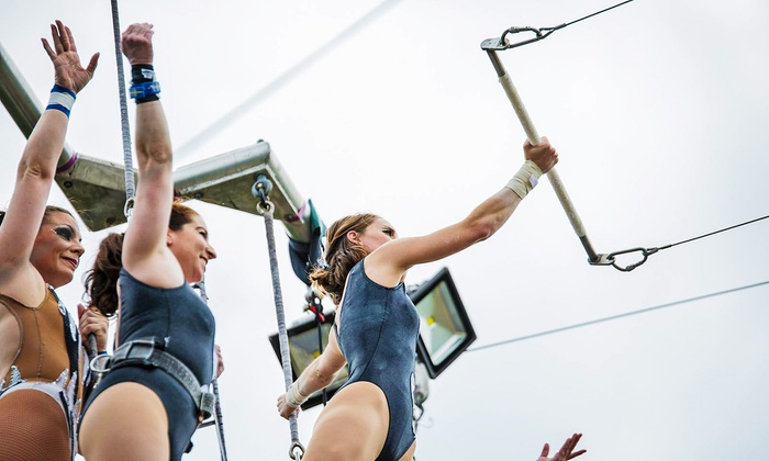 Trapeze Texas - Magnolia Park: 1- or 2-Hour Flying-Trapeze Lesson for One or Two or a 2-Hour Lesson for 4 at Trapeze Texas (Up to 50% Off)