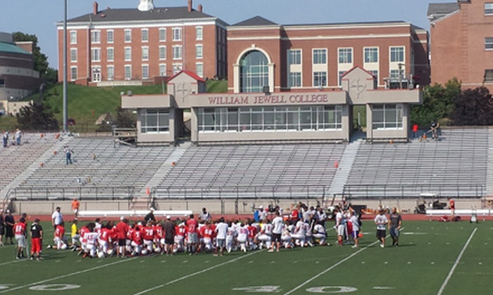 William Jewell College Men's Football - Northland: William Jewell Cardinals Football Game for Two or Four at Greene Stadium (Half Off). Five Games Available.