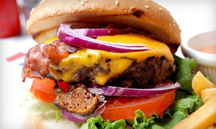 Rumrz Café & Grill - The District: $10 for $20 Worth of Burgers and Pub Cuisine at Rumrz Café & Grill