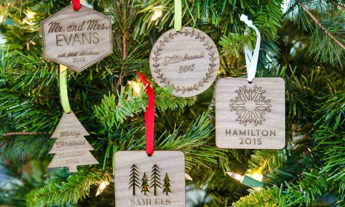 The Plaid Barn: One, Two, or Three Personalized Christmas Ornaments at The Plaid Barn (Up to 70% Off)