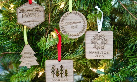 One, Two, or Three Personalized Christmas Ornaments at The Plaid Barn (Up to 70% Off)