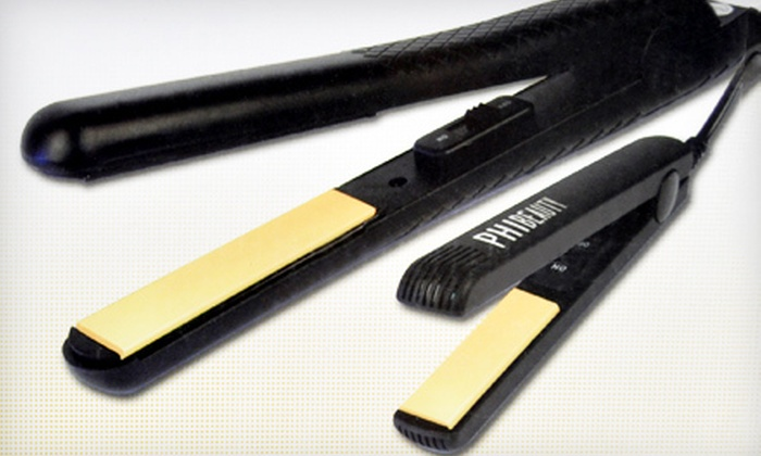 Ceramic Flat Iron Set: $29 for a PHI Beauty Ceramic Ionic Flat Iron Set ($149.99 Value). Shipping Included.