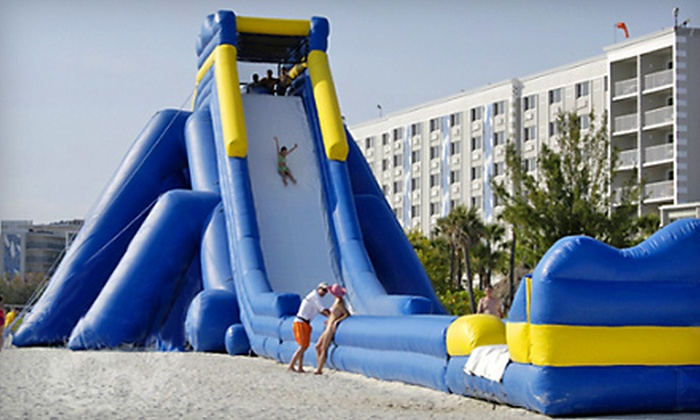 Bounce House Half Off Water Slide P For Two