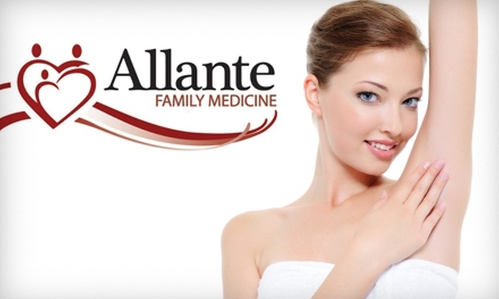 AllanteLife, Family Medical - Southwest Ada County Alliance: $99 for Three Laser Hair Treatments from Your Choice of One of Five Areas ($480 Value) or $299 for Three Brazilian Laser Hair Treatments ($1,300 Value) at AllanteLife, Family Medicine