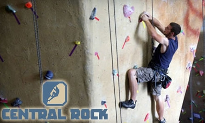 Central Rock Gym - North Lincoln Street: $10 for a One-Day Climbing Pass and Equipment Rental at Central Rock Gym in Worcester (Up to $20 Value)
