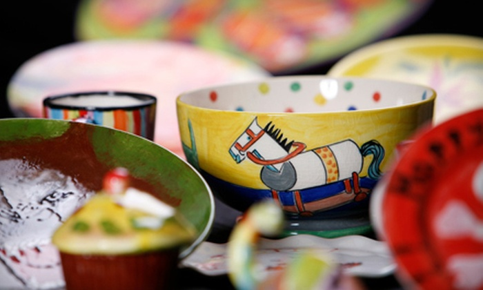 Cowboys and Angels - Kitsilano: $15 for $30 Worth of Paint-Your-Own Ceramics at Cowboys and Angels