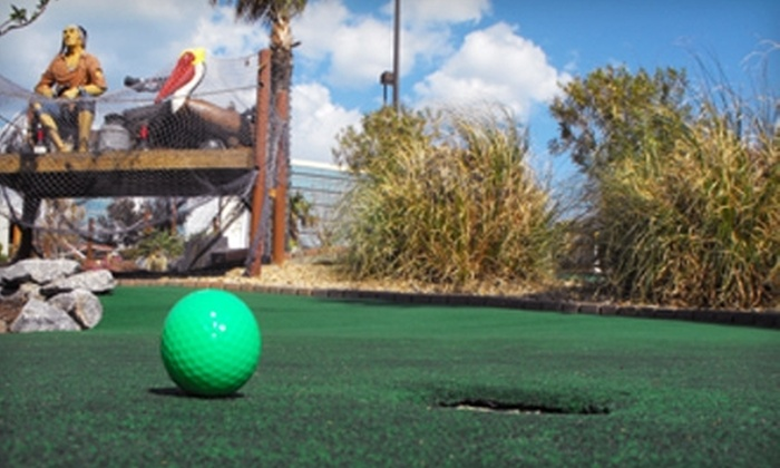 Pirate's Paradise Mini Golf - Northeast Virginia Beach: $25 for Four Games of Mini Golf and Two Funnel Cakes at Pirate's Paradise Mini Golf in Virginia Beach (Up to $51 Value)