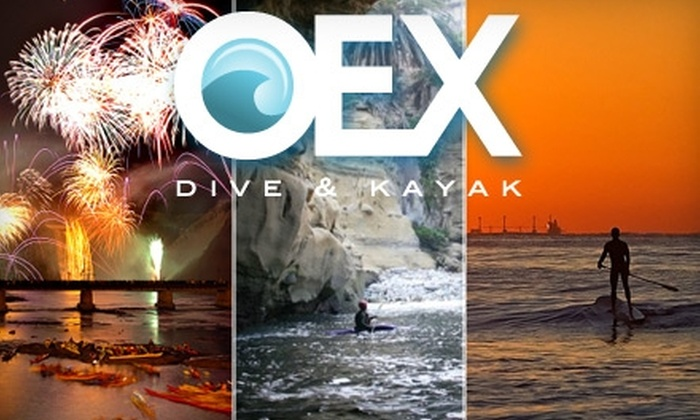 OEX Dive and Kayak - Multiple Locations: $25 for One of Three Kayak or Paddle-Board Tours from OEX Dive and Kayak (Up to $50 Value)