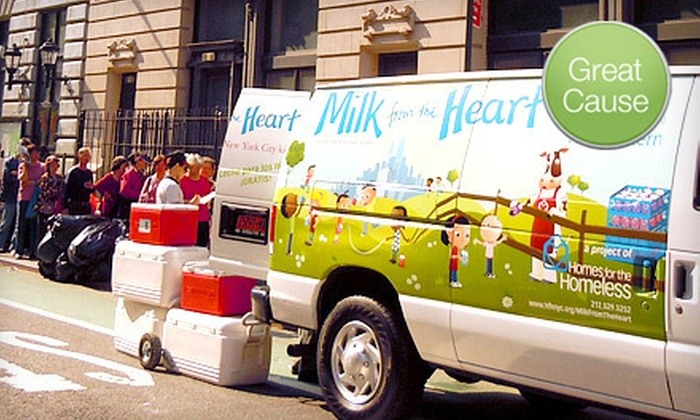 Milk from the Heart - NoHo: If 40 People Donate $3, Then Milk from the Heart Can Provide 40 Kids Each with 2 Quarts of Fresh Milk