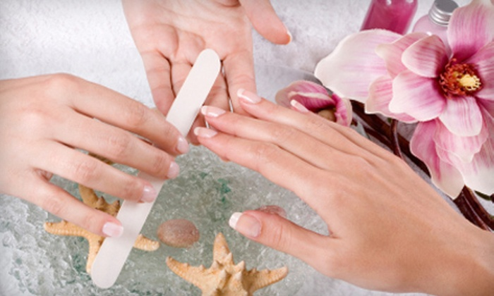 Pink Star Hair Design - Winnipeg: $30 for One Full Set of Light Concept Nails or Touch-Up Fills at Pink Star Hair Design (Up to $65 Value)