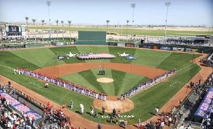 Spring Training Game between Cleveland Indians and Cincinnati Reds on Sat., Mar. 3 at 1:05PM: Outfield Box Seating - Spring Training Game between Cleveland Indians and Cincinnati Reds in Goodyear