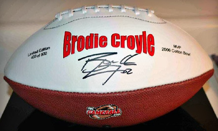 The Game Ball - Huntsville: $43 for a Football Autographed by Brodie Croyle from The Game Ball ($99.99 Value)