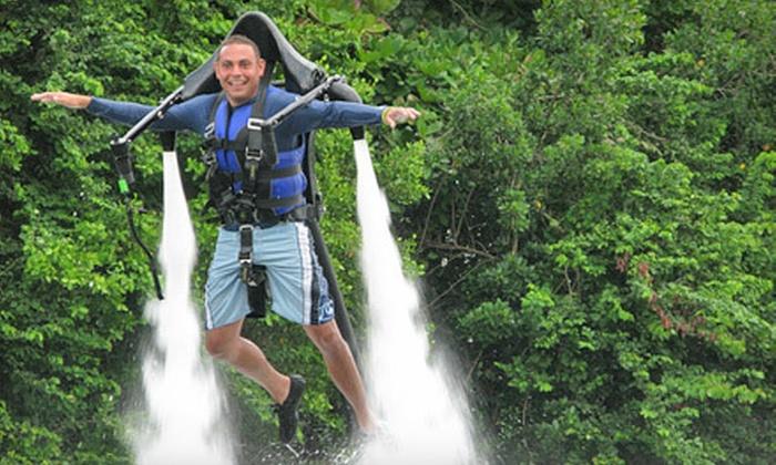 ZainoJet - Central Beach: $149 for a 30-Minute JetLev Aqua Jetpack Ride from ZainoJet ($300 Value)