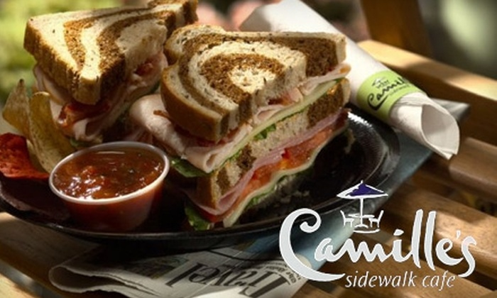 Camille's Sidewalk Cafe - Downtown - Penn Quarter - Chinatown: $10 for $20 Worth of Gourmet Café Fare at Camille's Sidewalk Cafe