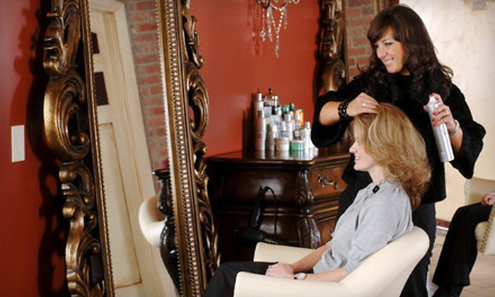 salon de vallon - West Des Moines: Haircut with Conditioning Treatment, All-Over Color, or Full Highlights at salon de vallon (Up to 64% Off)