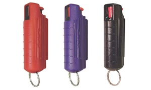 1/2 Oz. Self Defense Pepper Spray with Hard Case and Key Ring