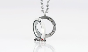 Monogramhub.com: $5 for a Small Circle Locket with Two Charms of Your Choice from MonogramHub ($99.99 Value)