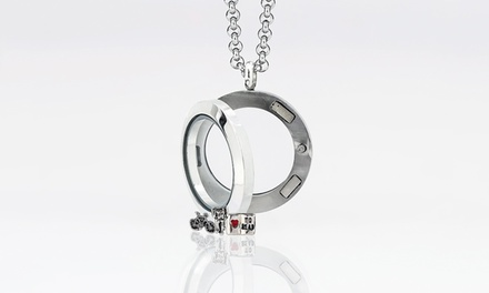 $5 for a Small Circle Locket with Two Charms of Your Choice from MonogramHub ($99.99 Value)