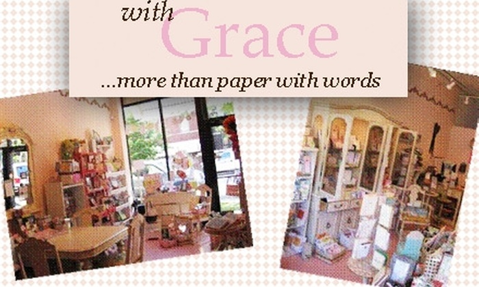 with Grace - Roscoe Village: $25 for $50 Worth of Cards, Stationery, & More at with Grace