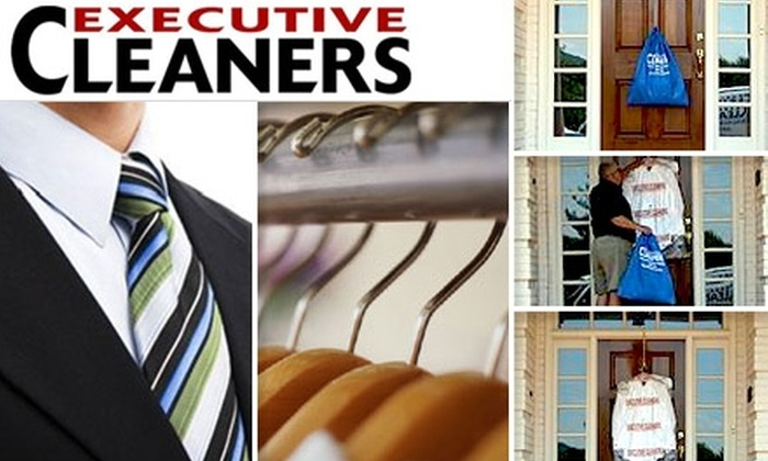 Executive Cleaners - Multiple Locations: $20 for $40 Worth of Pick-Up-and-Delivery or Over-the-Counter Dry-Cleaning and Laundry from Executive Cleaners