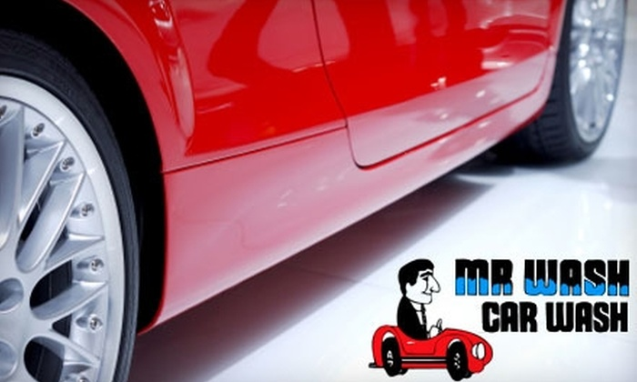 MR WASH Car Wash - Multiple Locations: $30 for Three Super Wash Car Washes ($63 Value) or $21 for Three Weather Shield Ultimate Car Washes ($42 Value) at MR WASH Car Wash