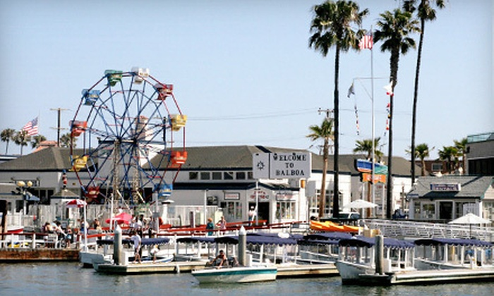 Balboa Fun Zone - Balboa Peninsula Point: $21 for an Amusement-Park Visit for Two with Harbor Cruise and Ferris-Wheel Ride at Balboa Fun Zone (Up to $42.66 Value)