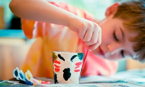 Glitter and Glue: Pottery Painting Session For One or Two Children at Glitter and Glue