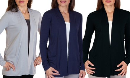 Steven Craig Open-Front Cardigan with Pockets