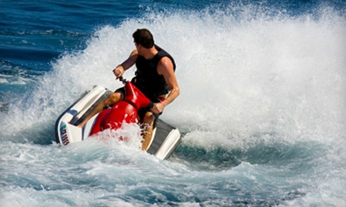 North Coast Parasail & Jet Ski - Sandusky: $40 for 30-Minute Waverunner Rental ($80 Value) or $42 for 10-Minute Parasail Ride ($85 Value) from North Coast Parasail & Jet Ski in Sandusky