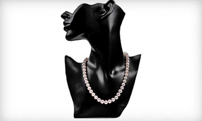 My Pacific Pearls: $69 for an Authentic 18-Inch, 9–10mm Pearl Necklace with 14-Karat-Gold Clasp from My Pacific Pearls ($450 Value)